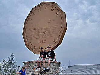 Loonie - The Big Loonie in Echo Bay, Ontario.