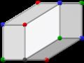 Bilinski dodecahedron, ortho slanted.png