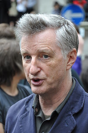 Billy Bragg, British musician and activist, at...