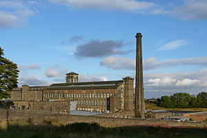 Queensbury, West Yorkshire - Image: Black Dyke Mills, Queensbury (14th September 2007)