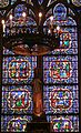 Blessed Virgin Statue and Stained-Glass, Notre-Dame, Paris (3583986049).jpg