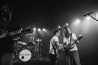 Bloc Party - Bloc Party performing live in 2015. From Left to Right: Okereke, Bartle, Lissack, Harris