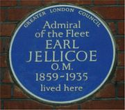 Blue plaque Earl Jellicoe