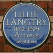 blue plaque commemorating Langtry
