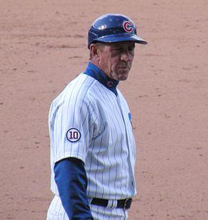 Bob Dernier - Dernier as the Cubs' 1st base coach in 2011