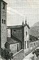 Bobbio lato della chiesa di San Colombano xilografia di Barberis.jpg