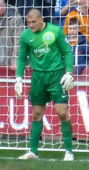 Bobby Olejnik - Olejnik playing for Peterborough United in 2014