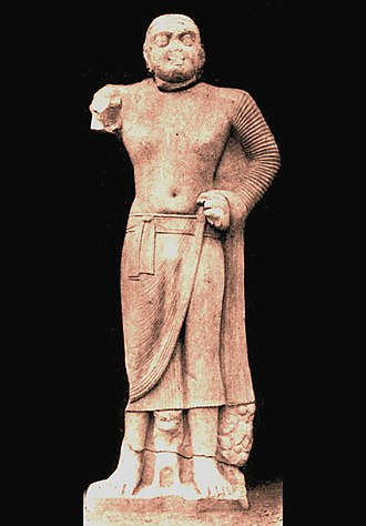 "Northern Satraps - The names of the Mahakshatrapa (""Great Satrap"") Kharapallana and the Kshatrapa (""Satrap"") Vanaspara in the year 3 of Kanishka (circa 123 CE) were found on this statue of the Bala Bodhisattva, dedicated by ""brother (Bhikshu) Bala""."