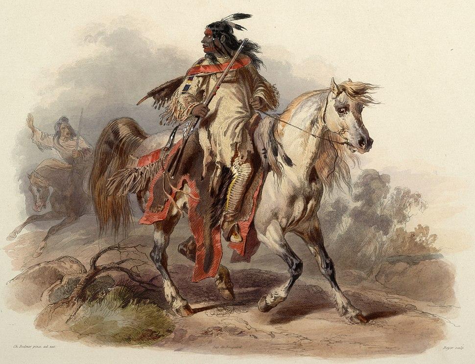 Bodmer -- Blackfoot Indian, 1840-1843