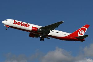Belair (airline) - A now retired Belair Boeing 767-300ER in adapted Air Berlin livery