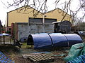 Boiler cladding for 6023 'King Edward II' & locoshed, GWS Didcot, January 2008 P1050083 (9940085375).jpg