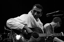 Bombino performing live on Druga Godba Festival in Ljubljana, Slovenia, 30 May 2014