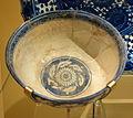 Bowl with chinoiserie design, Uzbekistan, Samarqand, early 15th century, underglaze-painted stonepaste - Royal Ontario Museum - DSC04785.JPG
