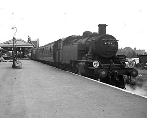 Wareham railway station - A Swanage branch train in 1966