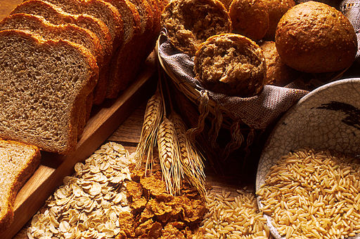 Bread and grains by Unknown photographer [Public domain], via Wikimedia Commons