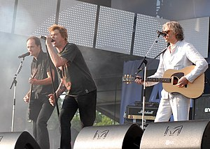 Bob Geldof - Geldof performing with Die Toten Hosen at Your Voice Against Poverty concert in Rostock, Germany on 7 June 2007