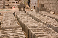 Sundrying Sand Stone Bricks