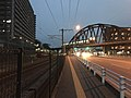 Bridge of Kashii Line on Japan National Route 495 at night.jpg