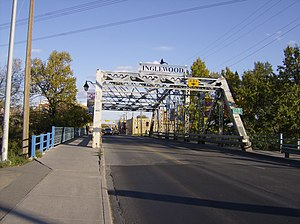 Inglewood, Calgary - Bridge into Inglewood from downtown