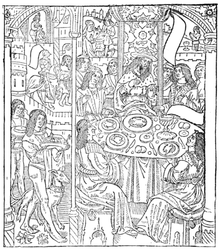 THE KING'S BANQUET (From the romance of 'Tristan,' published by Antoine Verard)