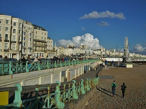 Brighton sea front, looking east