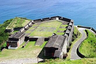 Siege of Brimstone Hill - The Fortress of Brimstone Hill, UNESCO World Heritage site.
