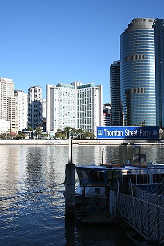 Waterfront Place, Brisbane - Image: Brisbane city crossing