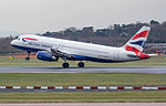 British Airways Airbus A320 G-EUYG (25651798846).jpg