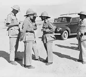 Gideon Force - Orde Wingate, the Gideon Force commander, talking with Emperor Haile Selassie of Abyssinia