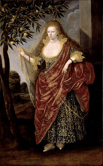 British School 17th century - Portrait of a Lady, Called Elizabeth, Lady Tanfield. Sometimes the meaning of an allegory can be lost, even if art historians suspect that the artwork is an allegory of some kind. British School 17th century - Portrait of a Lady, Called Elizabeth, Lady Tanfield - Google Art Project.jpg