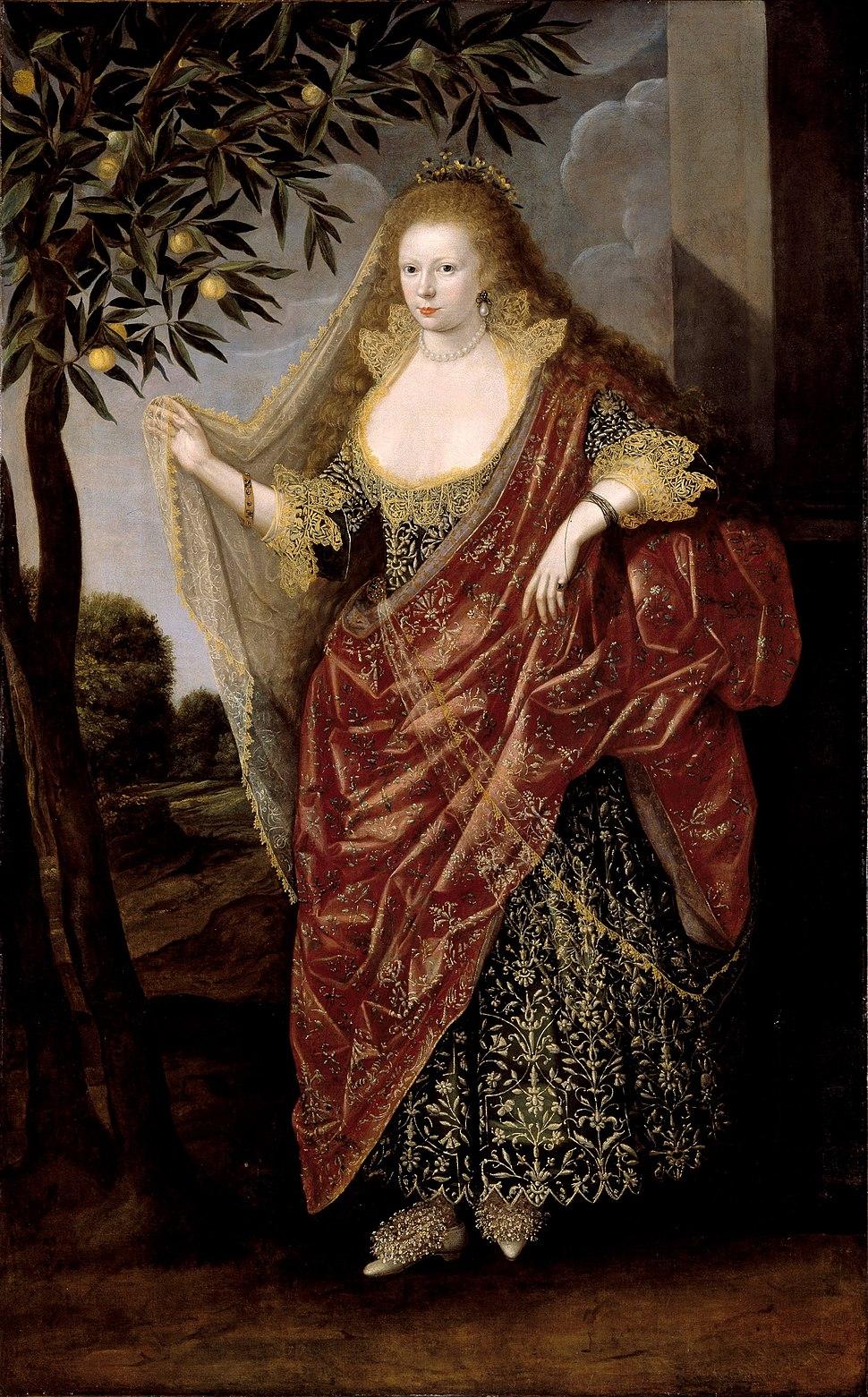 British School 17th century - Portrait of a Lady, Called Elizabeth, Lady Tanfield - Google Art Project