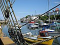 Brixham Harbour from The Golden Hind. - panoramio.jpg