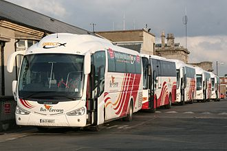 Bus Éireann - Irizar PB bodied Scanias at Broadstone depot in July 2008