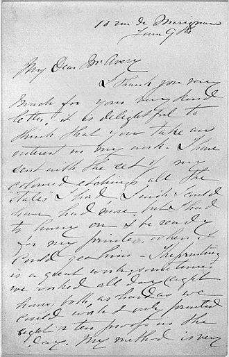 Gardner (Cassatt) Held by His Mother - Letter to Samuel Putnam Avery from Mary Cassatt, Brooklyn Museum