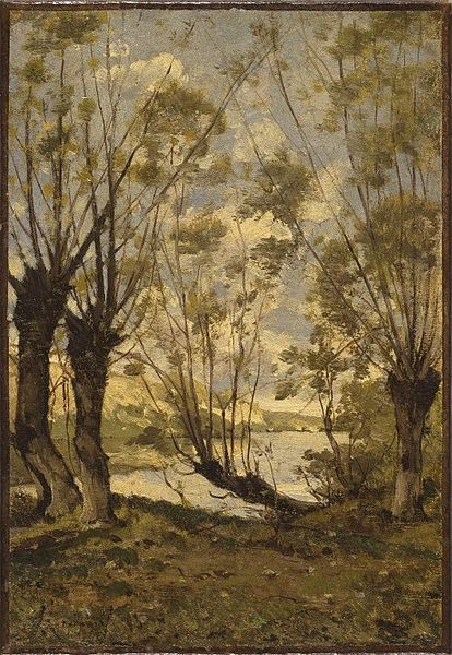 File:Brooklyn Museum - Willows on the Banks of the Loire - Henri-Joseph Harpignies - overall.jpg