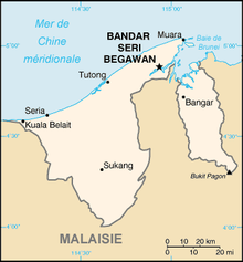 Description de l'image Brunei carte.png.