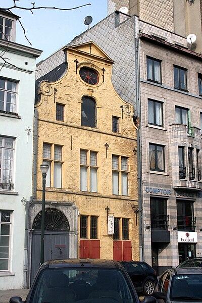 Bruselas: casa burguesa, quai au Bois de Construction (muelle del madera de construcción)