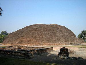 Kushinagar - Buddha's cremation stupa, Kushinagar.