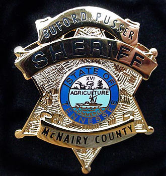 Buford Pusser - Buford Pusser's official sheriff badge.