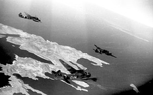 Battle of Kos - German Junkers Ju 88 bombers on their way to Kos for an operation