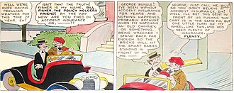 The Bungle Family - Harry J. Tuthill's The Bungle Family (June 13, 1926), hand-colored original art