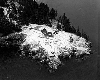 Burnt Coat Harbor Light lighthouse in Maine, United States