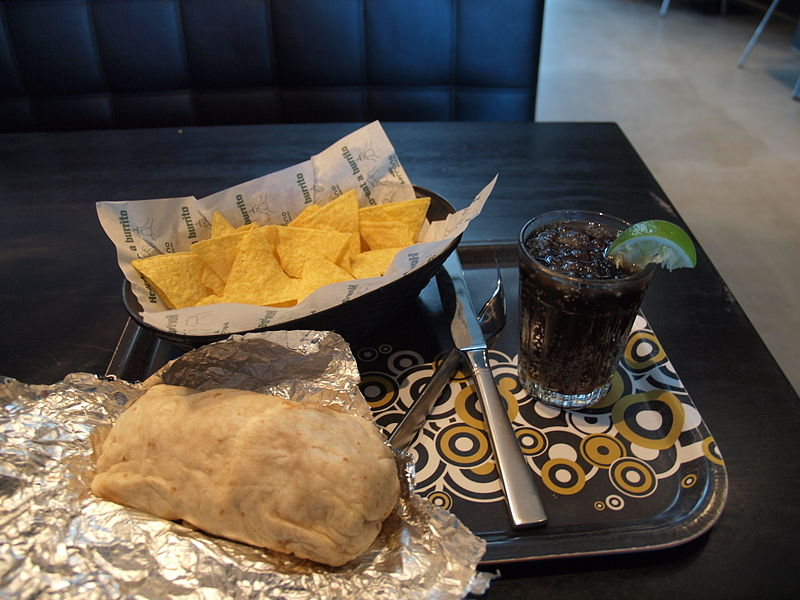 File:Burrito at restaurant Serrano, Stockholm, Sweden.jpg