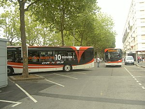 "Bus CHRONOBUS (Stab) station ""Place des Basques"" pdt fêtes 2009.JPG"