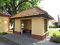 Bus stop in Horní Heřmanice, Třebíč District.JPG