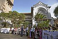 Bush's visit in Hanoi church.jpg