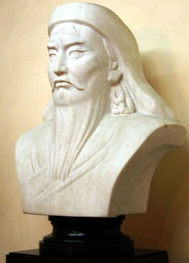 Bust of Genghis Khan in Mongolia.jpg