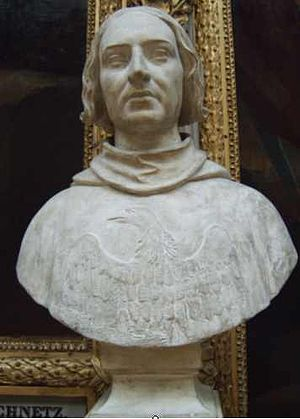 Jean de Vienne - Bust of Jean de Vienne in the Galerie des Batailles in the Palace of Versailles.