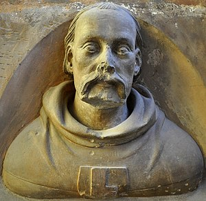 Peter Parler - Self-portrait in stone at St. Vitus Cathedral, c. 1370
