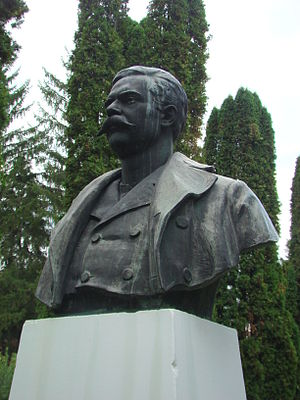 Constantin Dobrescu-Argeș - Bust of Dobrescu in Curtea de Argeș, by Frederic Storck.